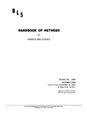 BLS handbook of methods for surveys and studies: Issues 1458-1464
