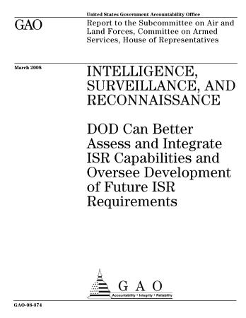 Intelligence  Surveillance  and Reconnaissance PDF