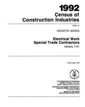 1992 Census of Construction Industries: Industry series, Volume 12