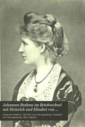 Johannes Brahms im Briefwechsel mit Heinrich und Elisabet von Herzogenberg: Band 2