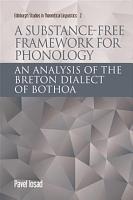 Substance free Framework for Phonology PDF