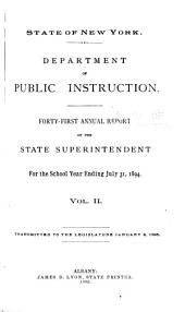 Annual Report of the State Superintendent of Public Instruction: Volume 2; Volume 41, Issue 2