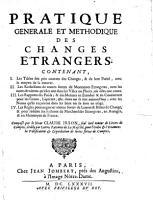 Pratique generale et methodique des changes   trangers  etc PDF