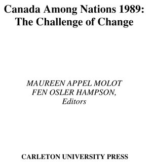 Canada Among Nations  1989