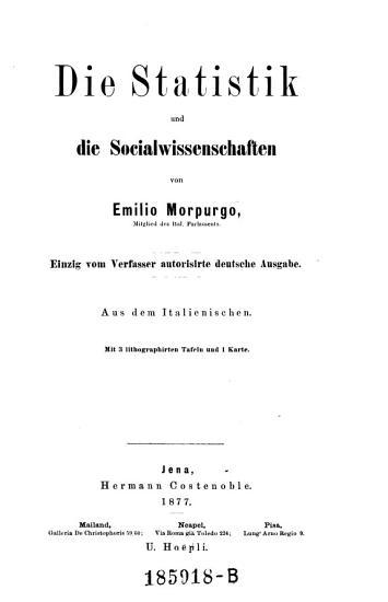 Die Statistik und die Sozialwissenschaften PDF