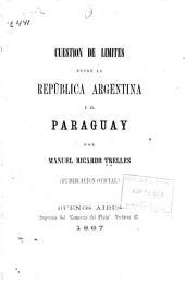 Cuestión de límites entre la República Argentina y el Paraguay