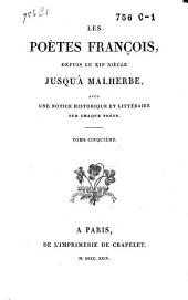 poètes françois