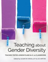 Teaching about Gender Diversity  Teacher Tested Lesson Plans for K   12 Classrooms PDF