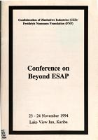 Conference on Beyond ESAP PDF