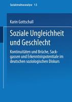 Soziale Ungleichheit und Geschlecht PDF