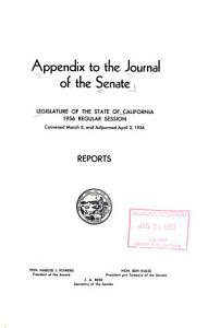 Appendix to the journal of the Senate  PDF