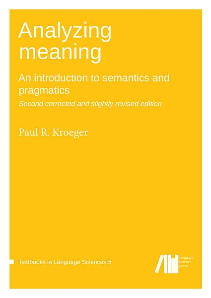 Download Analyzing meaning Book