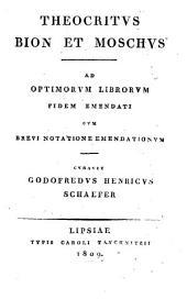 Theocritus Bion et Moschus