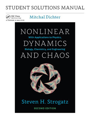 Student Solutions Manual for Nonlinear Dynamics and Chaos  2nd edition