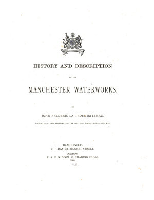 History and Description of the Manchester Waterworks