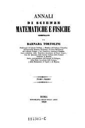 Annali di scienze matematiche e fisiche: Volume 1