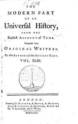 An Universal History From The Earliest Account Of Time Book PDF