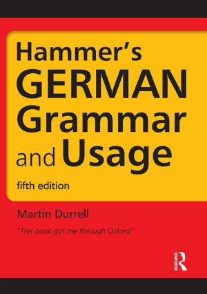 Hammer s German Grammar and Usage PDF