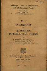 Invariants of Quadratic Differential Forms