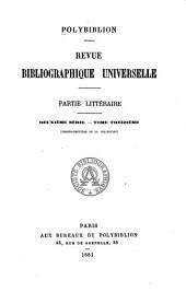 Polybiblion: Revue bibliographique universelle, Volume32