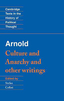 Arnold   Culture and Anarchy  and Other Writings PDF