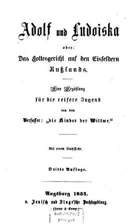 Adolf und Ludoiska oder das Gottesgericht auf den Eisfeldern Ru  lands PDF