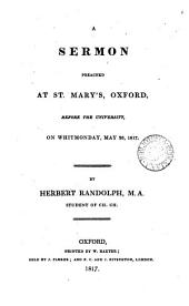 A sermon [on Acts x. 45,46] preached at St. Mary's Oxford ... May 26, 1817