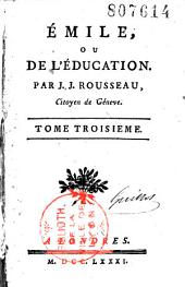 Emile, ou de l'éducation: Volume 1