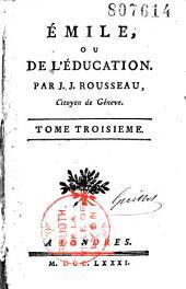 Emile, ou de l'éducation: Volume1