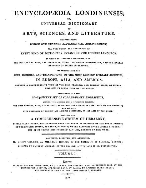 Download Encyclopaedia Londinensis  Or  Universal Dictionary of Arts  Sciences  and Literature Book