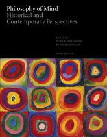 Philosophy of Mind  Historical and Contemporary Perspectives     Third Edition PDF