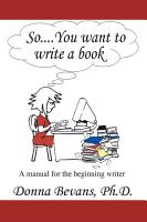 So       You Want to Write a Book PDF