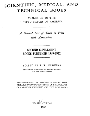 Scientific  Medical  and Technical Books Published in the United States of America PDF