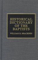 Historical Dictionary of the Baptists
