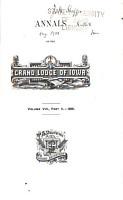 Annals of the Grand Lodge of Iowa PDF