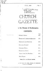 The Church Gazette for the Diocese of Rockhampton
