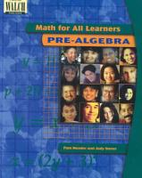 Math for All Learners PDF