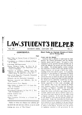 The Law Student's Helper: A Monthly Magazine for the Student in and Out of Law School, Volume 15