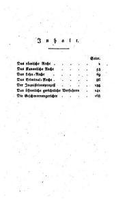 Ueber deutsche Gesetzbücher und den Inquisitions-Prozeß