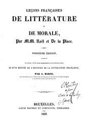 Leçons française de littérature et de morale