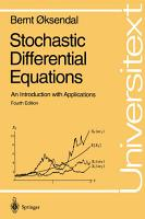 Stochastic Differential Equations PDF