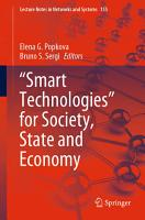 Smart Technologies  for Society  State and Economy PDF