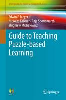 Guide to Teaching Puzzle based Learning PDF