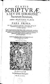 Clavis Scripturae, s. seu de sermone sacrarum literarum