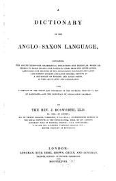 A Dictionary of the Anglo-Saxon Language