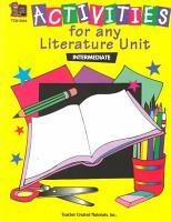 Activities for Any Literature Unit PDF
