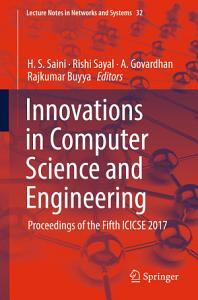 Innovations in Computer Science and Engineering PDF