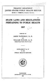 State Laws and Regulations Pertaining to Public Health