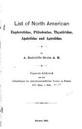 List of North American Eupterotidae, Ptilodontae, Thyatiridae, Apatelidae and Agrotidae