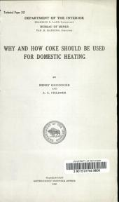 Why and how coke should be used for domestic heating